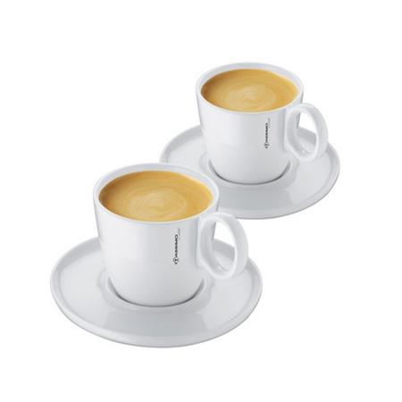 Sada dvoch porcelánových hrnčekov pre Caffe Crema 1